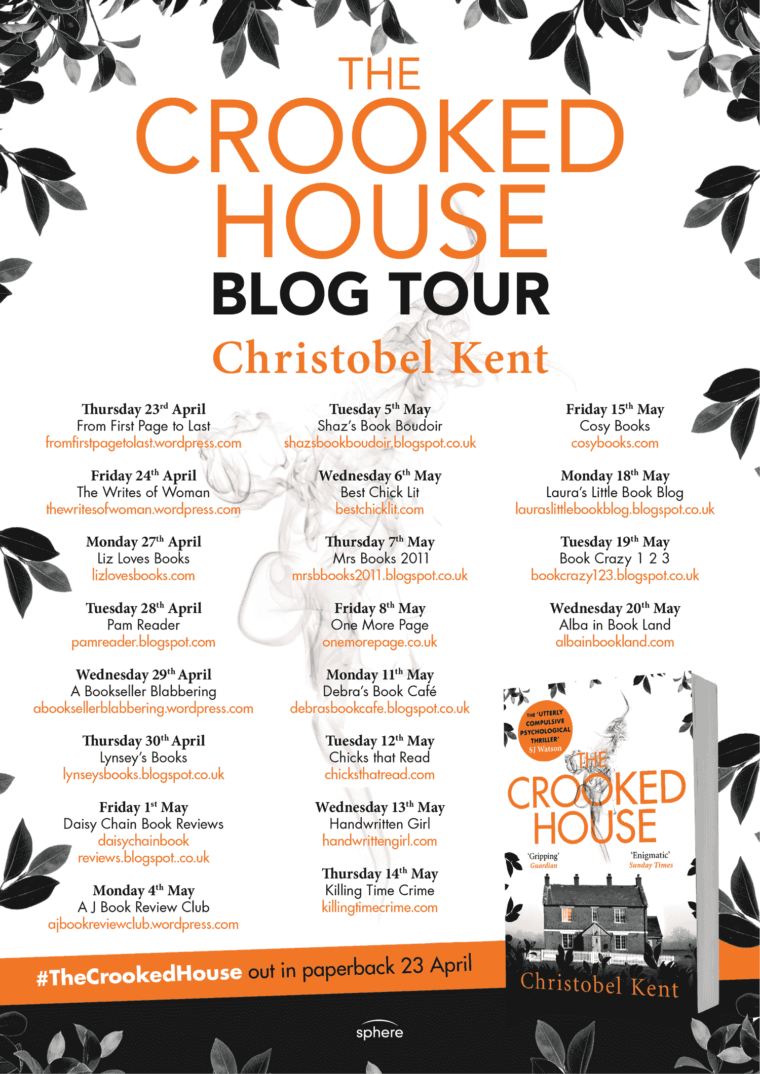 The Crooked House Book Tour