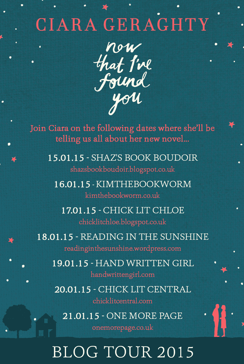 'Now That I've Found You Book Tour