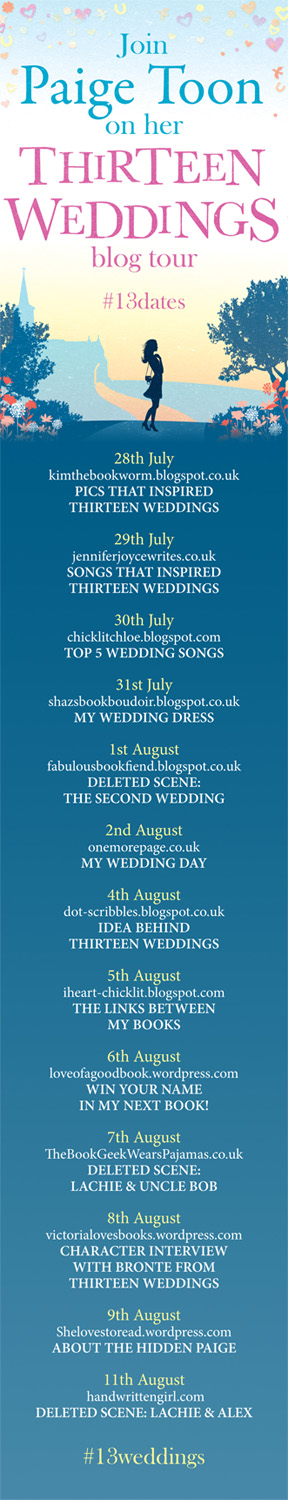 Thirteen Weddings Book Tour